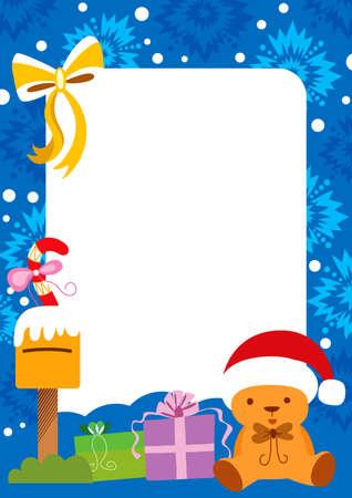 Christmas Holiday Card Frame Vector