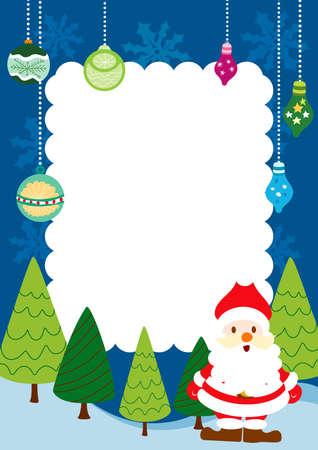 santa claus background: Christmas Card Frame