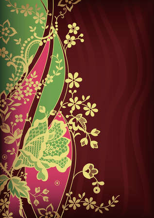 Asia Floral Abstract Vector
