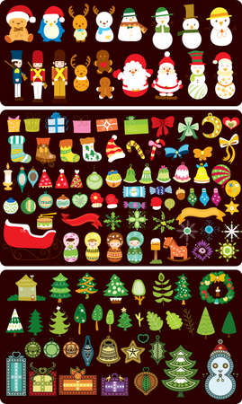 christmas military: Christmas Design Element Illustration
