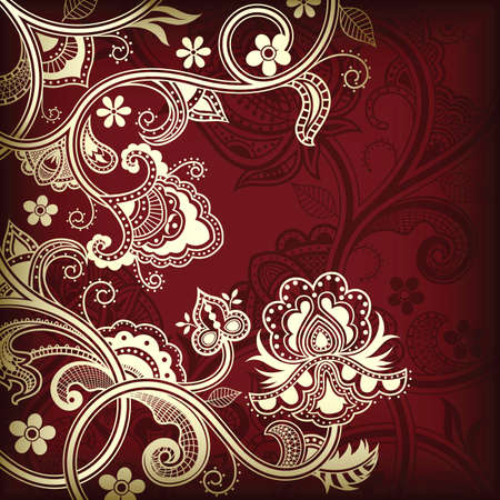 oriental: Elegant Floral Background