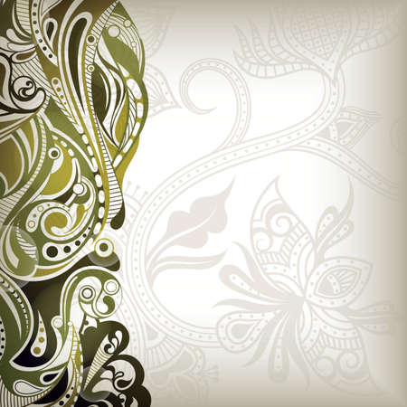 floral abstract: Abstract Floral Wave  Illustration