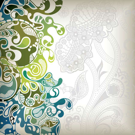 Abstract Floral Wave Stock Vector - 8483202