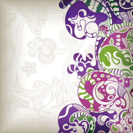 Abstract Floral Wave  Vector
