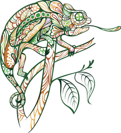 chameleons: Chameleon Illustration