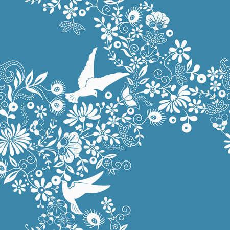 pigeons: Floral et Dove