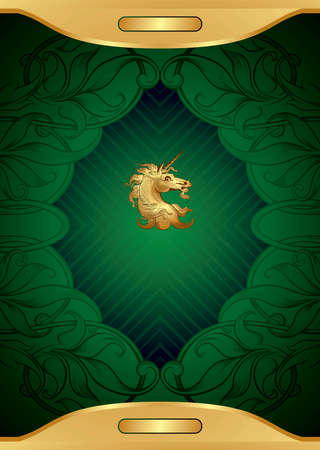 Royal Background with Unicorn Vector