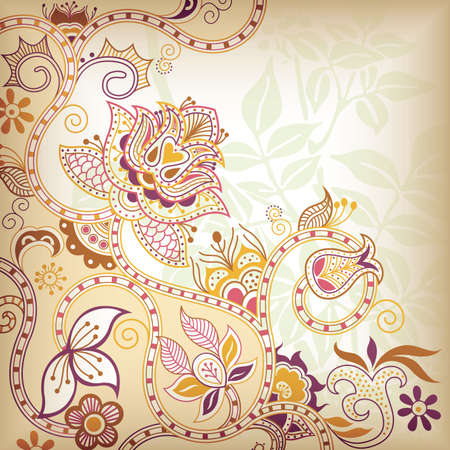 Floral Scroll Stock Vector - 8805597