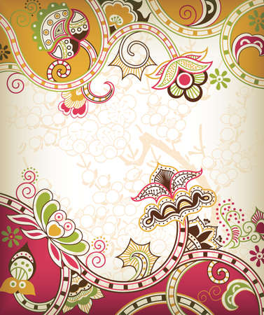 Asia Floral Background Stock Vector - 8805600