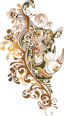 Rhino abstracto Ilustración de vector