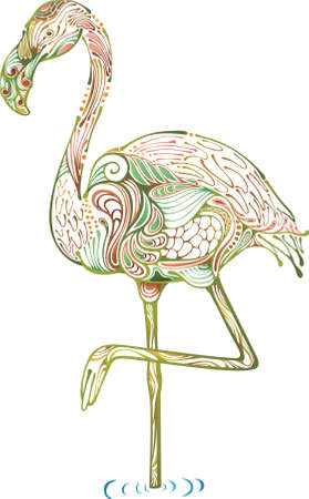 crane bird: Abstract Crane Illustration