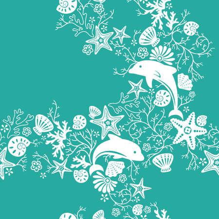shell pattern: Seamless Floral and Animal Pattern 3