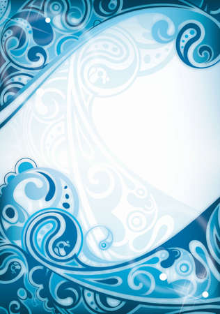 water flowing: Abstract Blue Curve Background Illustration