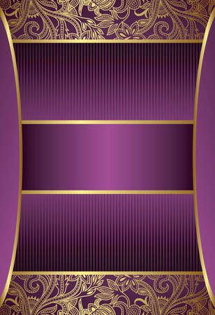 purple floral: Purple Menu Cover