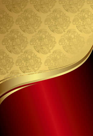 curve: Abstract Red Gold Curve Background 2