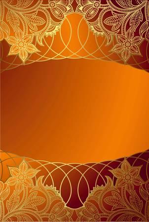 chinese menu: Orange Frame Background