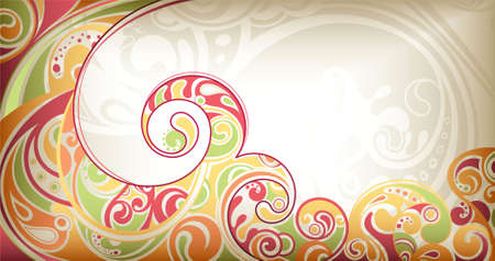 Abstract Scroll Background Stock Vector - 9158546