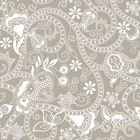 chinese scroll: Seamless Floral Pattern 2 Illustration