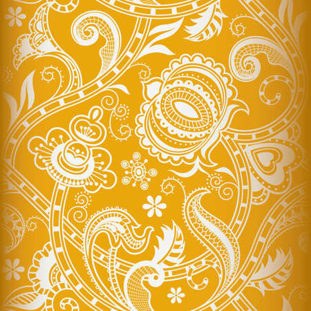 chinese scroll: Seamless Floral Pattern 3