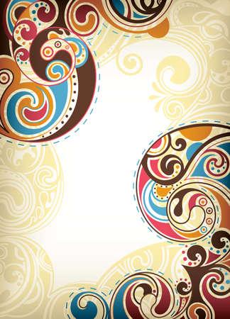 colori: Abstract Scroll colorata Vettoriali