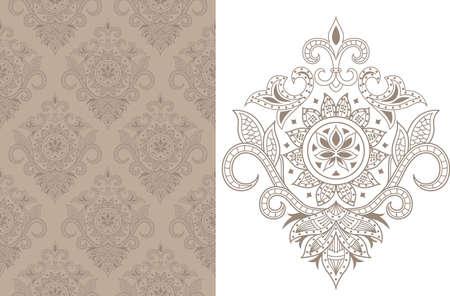 motif indiens: Motif Floral Seamless 1