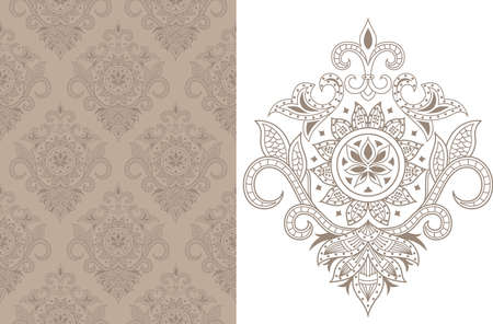 indische muster: Seamless Floral Pattern 1