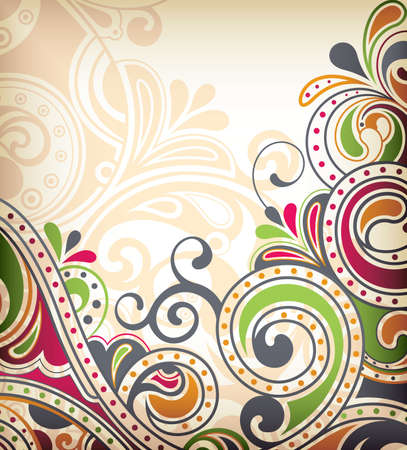 Floral Scroll Stock Vector - 9411917