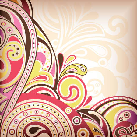 Abstract Pink Scroll Background Stock Vector - 9411911