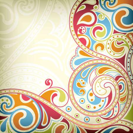 Abstract Rainbow Scroll Stock Vector - 9411915