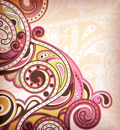 Abstract Pink Scroll Stock Vector - 9411916