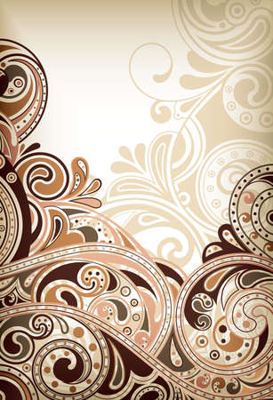 Abstract Floral Scroll Stock Vector - 9411921