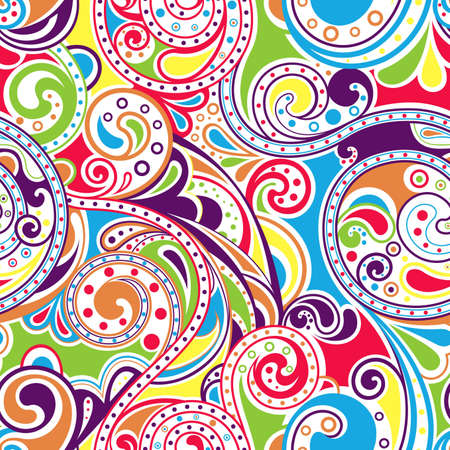 Abstract Rainbow Surf Pattern Vector