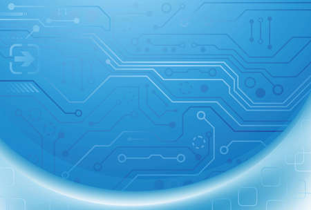 Abstract Blue Circuit Background Vector