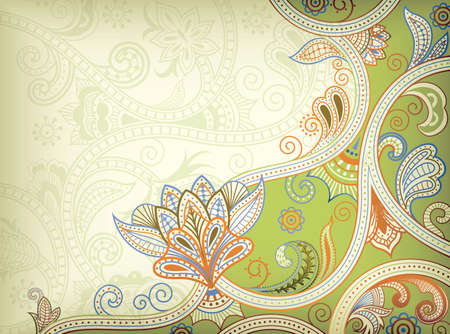 lime green: Abstract Floral