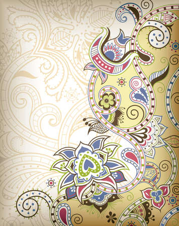 Asia Floral Background Vetores
