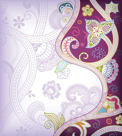 oriental flower: Lavender Floral Background