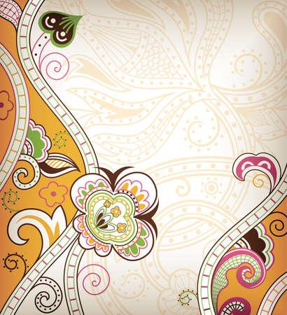 menu card design: Abstract Floral