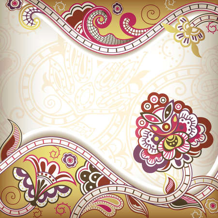 Abstract Floral Frame Stock Vector - 10120487