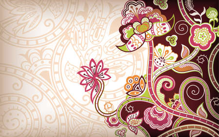 India Floral Stock Vector - 10252491