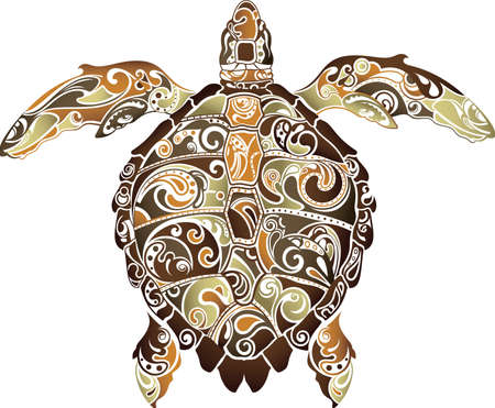 Abstract Turtle Illustration