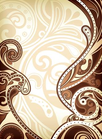 Abstract Chocolate Background Stock Vector - 10311499