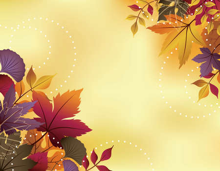 Fall Leaves Background Stock Vector - 10508545