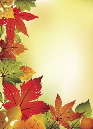 Fall Leaf Background Vector