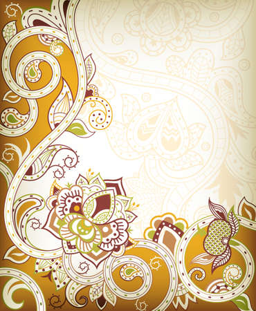 Floral Scroll 向量圖像