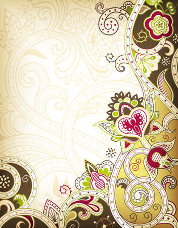 arts abstract: Abstract Floral Background