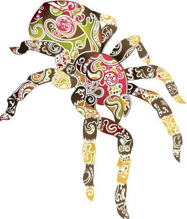 Abstract Spider Illustration