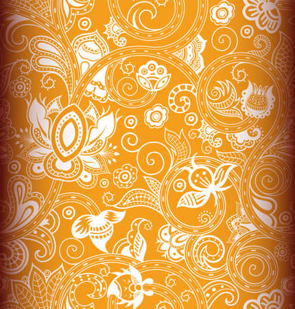 indische muster: Seamless Floral Pattern 2 Illustration