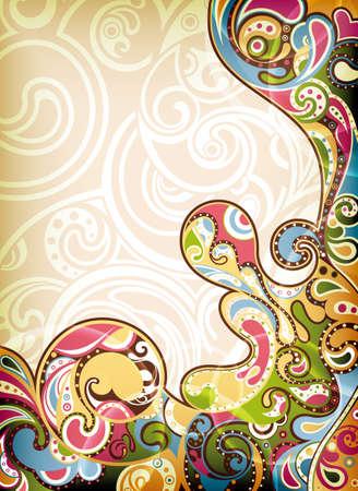 funky background: Retro Background Illustration