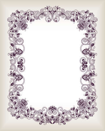 invites: Abstract Floral Frame