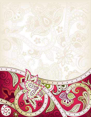 indian wedding: Abstract Red Floral Background